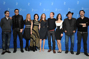 "(L-R)  Actors Boris Ler, Branko Djuric, Alma Terzic, Vanesa Glodjo, director Angelina Jolie, actors Goran Kostic, Zana Marjanovic, Rade Srbedzija and Nikola Djuricko attend the ""In The Land Of Blood And Honey"" Photocall during day three of the 62nd Berlin International Film Festival at the Grand Hyatt on February 11, 2012 in Berlin, Germany."