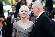 """Director Tonie Marshall and Jean Paul Gaultier attend the """"From The Land Of The Moon (Mal De Pierres)"""" premiere during the 69th annual Cannes Film Festival at the Palais des Festivals on May 15, 2016 in Cannes, France."""