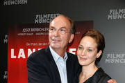 Herbert Knaup and Jeanette Hain attend the 'Landauer - Der Praesident' premiere as part of Filmfest Muenchen at Gasteig at  on July 1, 2014 in Munich, Germany.