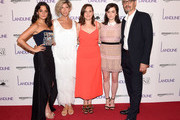 """Jenny Slate, Elisabeth Holm, Gillian Robespierre, Abby Quinn and John Turturro attend the """"Landline"""" New York Premiere at The Metrograph on July 18, 2017 in New York City."""