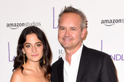 "Jenny Slate and Roy Price attend the ""Landline"" New York Premiere at The Metrograph on July 18, 2017 in New York City."