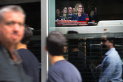 A television in a restaurant shows live images of professor Christine Blasey Ford as she testifies about an alleged sexual assault by Republican Supreme court nominee Judge Brett Kavanaugh before the Senate Judiciary Committee on September 27, 2018 in New York, New York. As people around the country watched, Ford gave emotional testimony about the alleged sexual assault before the Senate Judiciary Committee Thursday morning. Kavanaugh has strongly denied all of the sexual misconduct allegations against him and is to be questioned separately at the same hearing later in the day.