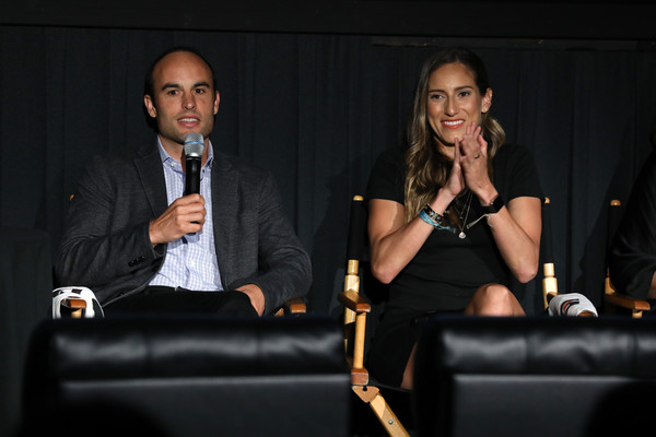 Premiere Of Docu-Series 'Cantera 5v5' During The Tribeca TV Festival [gatorade premiere of docu,docu-series,event,fashion,conversation,convention,adaptation,businessperson,suit,talent show,formal wear,performance,cantera,melissa ortiz,landon donovan,5v5,l-r,gatorade,tribeca tv festival,premiere]