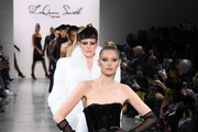 Elsa Hosk leads the runway for Laquan Smith during New York Fashion Week: The Shows on February 08, 2020 in New York City.