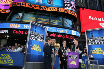 Lara Spencer 2015 American Music Awards Nominations Announcement at 'GMA'