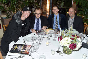 Larry King Chance Armstrong King Friars Club Honors Larry King For His 86th Birthday At The Crescent Hotel