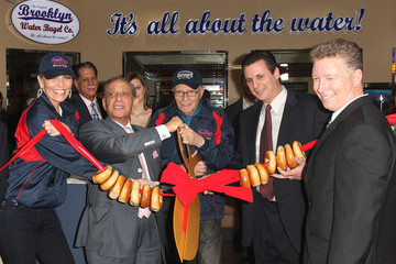 Shawn King Steven M. Fassberg Larry King Hosts The Pre-Grand Opening Of The 1st West Coast Original Brooklyn Water Bagel Company