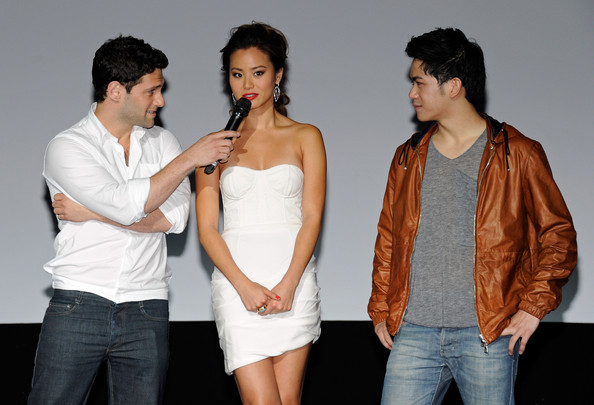 "(L-R) Actor Justin Bartha, actress Jamie Chung and actor Mason Lee introduce the Las Vegas premiere of the Warner Bros. Pictures movie, ""The Hangover Part II"" at the Planet Hollywood Resort & Casino May 21, 2011 in Las Vegas, Nevada. The three co-star in the film, which opens nationwide in the United States on May 26."