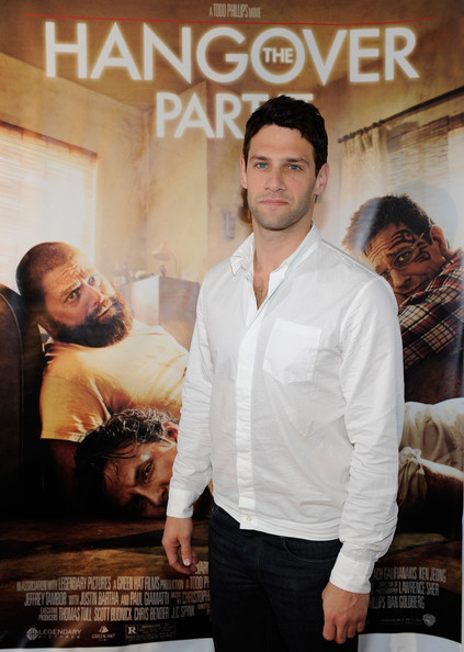 "Actor Justin Bartha arrives at the Las Vegas premiere of the Warner Bros. Pictures movie, ""The Hangover Part II"" at the Planet Hollywood Resort & Casino May 21, 2011 in Las Vegas, Nevada. The film opens nationwide in the United States on May 26."