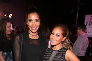 "TV personalities Julissa Bermudez (L) and Adrienne Bailon attend the Latina ""Hot List"" Party hosted by Latina Media Ventures at The London West Hollywood on October 6, 2015 in West Hollywood, California."