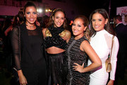 "(L-R) TV personality Julissa Bermudez, actress Dania Ramirez and TV personalities Adrienne Bailon and Rocsi Diaz attend the Latina ""Hot List"" Party hosted by Latina Media Ventures at The London West Hollywood on October 6, 2015 in West Hollywood, California."