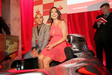 Lewis Hamilton Melanie Sykes The Launch of the London Grand Prix by Santander at the Royal Automobile Club London