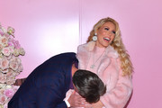 Slade Smiley and Gretchen Rossi attend the launch of Patrick Ta's Beauty Collection at Goya Studios on April 04, 2019 in Los Angeles, California.