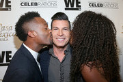 (L-R) Actor Montre Burton, tv personality David Tutera and Slomique attend the launch of WE tv's David Tutera CELEBrations and Casa Mexico Tequila on November 6, 2015 in Hollywood, California.
