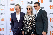 Gary Oldman, Meryls Streep and Antonio Banderas attend the North American Premiere of 'The Laundromat' at the The Princess of Wales Theatre on September 09, 2019 in Toronto, Canada.