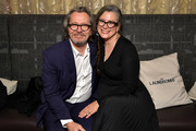 Gary Oldman and Gisele Schmidt attends the North American Premiere of 'The Laundromat' at the The Princess of Wales Theatre on September 09, 2019 in Toronto, Canada.