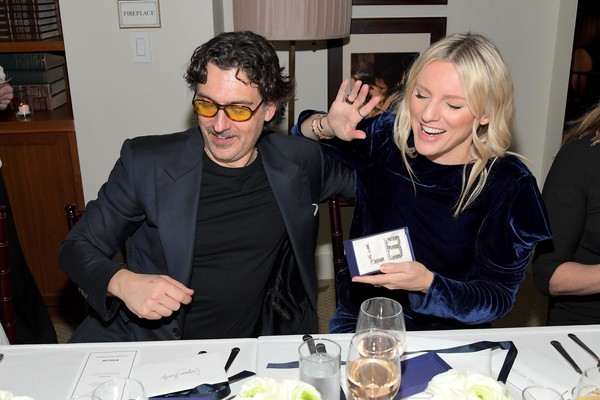 Giovanni Morelli, Stuart Weitzman Creative Director, And Laura Brown, InStyle Editor-In-Chief, Celebrate the Opening of Beverly Hills Boutique With Private VIP Dinner At The Sunset Tower Hotel