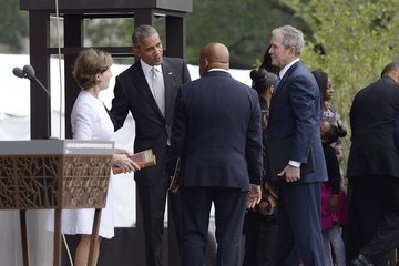 Laura Bush The National Museum of African American History and Culture Opens in Washington, D.C.