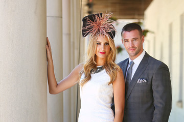 Laura Dundovic Kris Smith Melbourne Cup Carnival Spring Fashion Moment