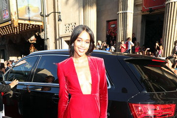 Laura Harrier Audi Arrives at the World Premiere of 'Spider-Man: Homecoming'