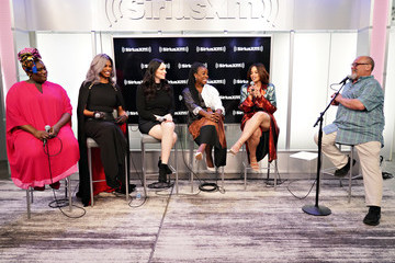 Laura Prepon Laverne Cox The Cast Of 'Orange Is The New Black' Visit The SiriusXM Studios In New York City