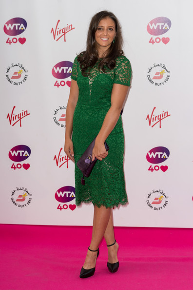 Laura Robson Laura Robson  attends the annual pre-Wimbledon party at Kensington Roof Gardens on June 20, 2013 in London, England.