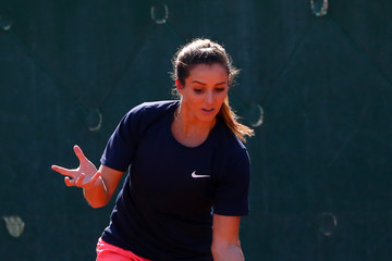 Laura Robson Romania v Great Britain - Fed Cup: World Group II Play Off: Day One