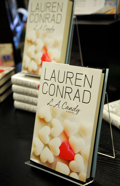 "Lauren Conrad Copies of TV Personality Lauren Conrad's book ""LA Candy"" is on"