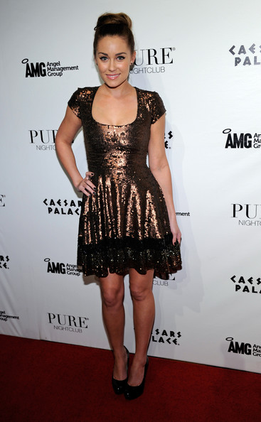 Television personality Lauren Conrad arrives at the Pure Nightclub at Caesars Palace to celebrate her birthday February 12, 2011 in Las Vegas, Nevada. Conrad turned 25 on February 1.