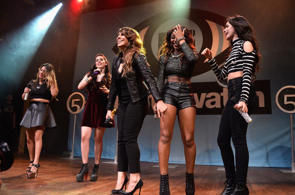 MTV Artist to Watch Kickoff Event — Part 3 [artist to watch,performance,entertainment,social group,event,performing arts,fashion,stage,public event,talent show,fun,dinah hansen,normani hamilton,lauren jauregui,camila cabello,l-r,fifth harmony,ally brook,mtv,kickoff event]