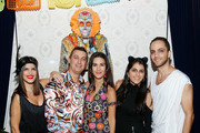 """(L-R) Jessica Naziri, Brad Farber, Natalie Zfat and Jasman Naziri attend Lauren Scala and Natalie Zfat's Fourth Annual """"Scaring is Caring"""" Halloween Party at The Seville on October 27, 2018 in New York City."""