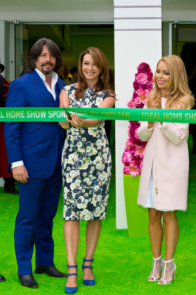 Katie Piper Launches Ideal Home Show  [katie piper launches ideal home show,green,red,yellow,fashion,event,dress,footwear,fun,summer,flooring,katie piper,laurence llewelyn-bowen,suzi perry,photocall,photocall,l-r,england,london,ideal home show]