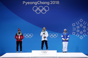 Laurie Blouin Medal Ceremony - Winter Olympics Day 3