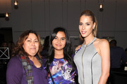 """Zoey Luna (C) and Carmen Carrera (R) attend """"Laverne Cox Presents: The T Word"""" Logo TV Premiere Party & Screening at Paramount Screening Room at the Viacom Building on October 16, 2014 in New York City."""