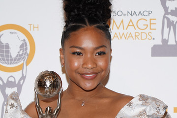 Laya DeLeon Hayes 50th NAACP Image Awards Non-Televised Dinner - Press Room