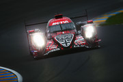 The Rebellion Racing R13 of Andre Lotterer, Neel Jani and Bruno Senna drives during qualifying for the Le Mans 24 Hour race at the Circuit de la Sarthe on June 14, 2018 in Le Mans, France.