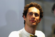 Bruno Senna of Brazil and Aston Martin Racing looks on during practice on June 11, 2014 in Le Mans, France.