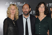 "Actresses Sandrine Kiberlain, Valerie Lemercier and Actor Kad Merad attend the Premiere of ""Le Petit Nicolas"" film at Le Grand Rex on September 20, 2009 in Paris, France."
