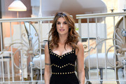 Elisabetta Canalis attends 'Le Spose Di Costantino' press conference on December 19, 2017 in Milan, Italy.