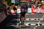 Alejandro Valverde Belmonte of Spain and Movistar Team crosses the finish line during stage eleven of the 2015 Tour de France, a 188 km stage between Pau and Cauterets, on July 15, 2015 in Cauterets, France.