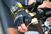 Mark Cavendish of Great Britain and Team Dimension Data wears a Richard Mille watch as he rides in the Individual Time Trial during stage one of the 2017 Le Tour de France a 14km stage on July 1, 2017 in Duesseldorf, Germany.
