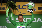 Marcel Kittel of Germany riding for Quick-Step Floors celebrates on the podium in the green points jersey after stage 10 of the 2017 Le Tour de France, a 178km stage from Périgueux to Bergerac on July 11, 2017 in Bergerac, France.