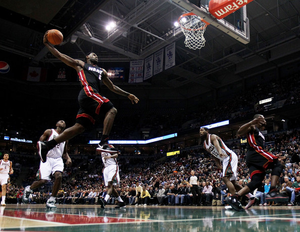 lebron james heat dunking. LeBron James LeBron James #6