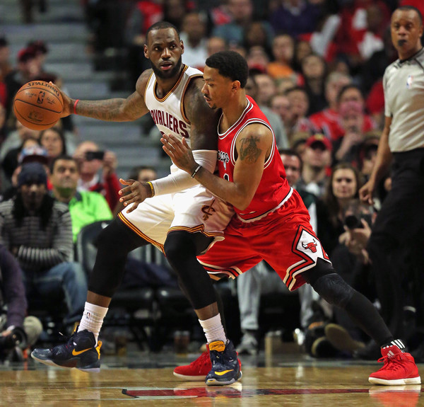 1cd6c4f94bf2 LeBron James and Derrick Rose Photos»Photostream · Pictures · Cleveland  Cavaliers v Chicago Bulls