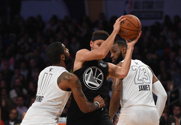 41856f744d41 LeBron James and Kyrie Irving Photos»Photostream · Pictures · NBA All-Star  Game 2018
