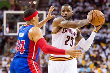 LeBron James Detroit Pistons v Cleveland Cavaliers - Game One