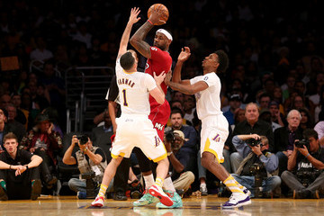 LeBron James Nick Young Miami Heat vs. Los Angeles Lakers