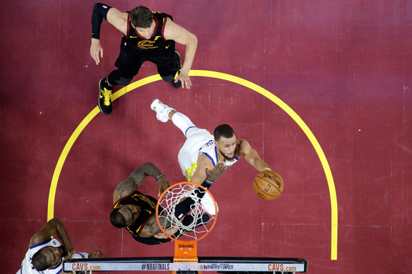 2018 NBA Finals - Game Four [photograph,sports,basketball player,player,basketball moves,games,stephen curry,user,note,basket,nba,golden state warriors,finals,game four,half]