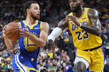 LeBron James Stephen Curry Golden State Warriors vs. Los Angeles Lakers