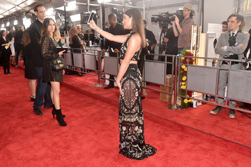 Lea Michele The 59th GRAMMY Awards -  Red Carpet
